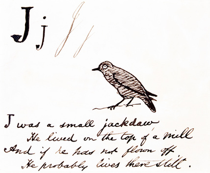 The letter J, by Edward Lear