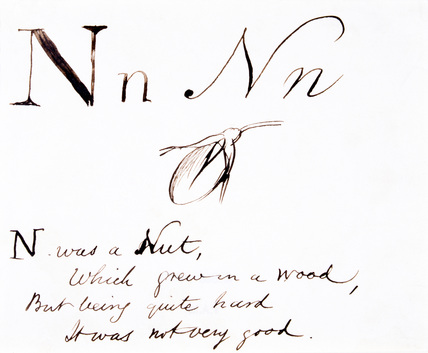 The letter N, by Edward Lear
