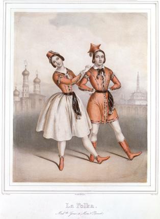 Carlotta Grisi and Jules Perrot in La Polka