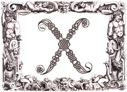 Initial X, by Francesco Giovanni Cresci