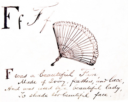 The letter F, by Edward Lear