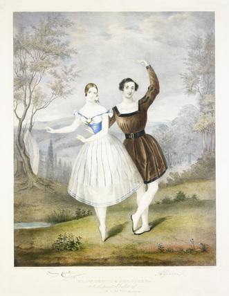 Fanny Cerrito and Antonio Guerra in The Fairy Lake