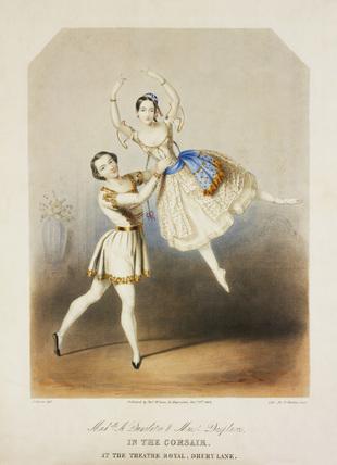 Adele Dumilatre and Henri Desplaces performing a pas de deux in The Corsair