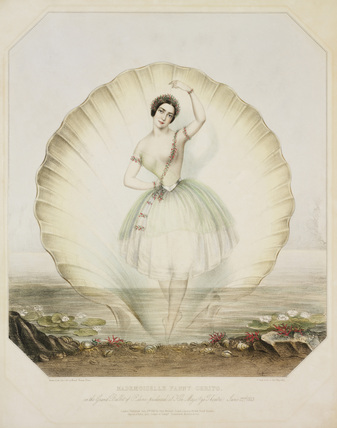 Fanny Cerito performing the water nymph Ondine at Her Majesty's Theatre