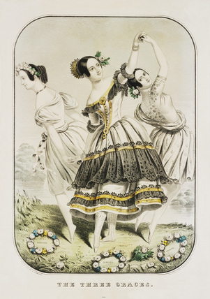 The Three Graces performed by Marie Taglioni, Fanny Cerrito and Fanny Elssler