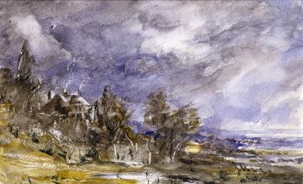 Hampstead Heath, from near Well Walk, by John Constable