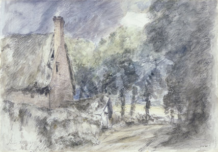 A Cottage and Trees near Salisbury, by John Constable