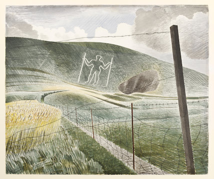 The Long Man of Wilmington, by Eric Ravilious (Print On Demand)