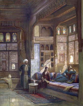A room in the house of Shayk Sadat, Cairo, by Frank Dillon