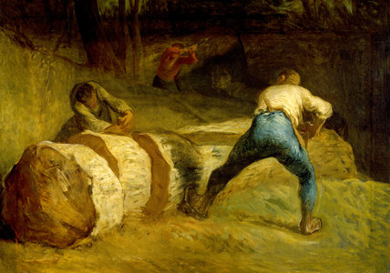 The Wood Sawyers, by Jean-Francois Millet