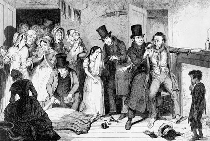 The Husband Kills the Wife, by George Cruikshank