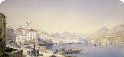 Lake of Lugano, by T.L.Rowbotham Jnr