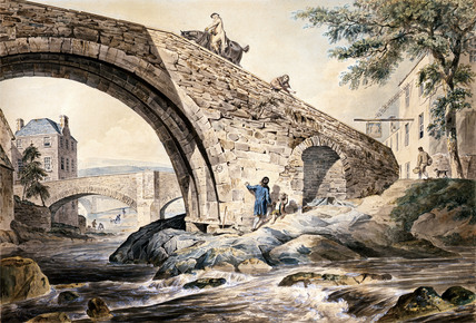 View of the Bridges at Hawick, by C.Calton
