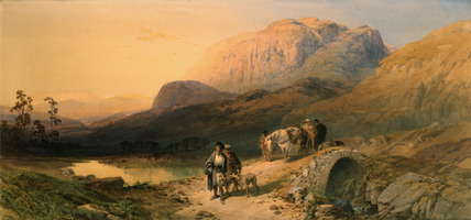 On The Clunie, Aberdeenshire, by T.M.Richardson Jnr