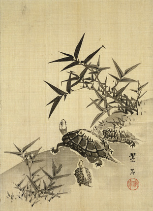 Tortoises and Bamboo, by Siuseki