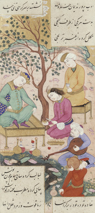 Shirin and Khusraw in latter's Camp