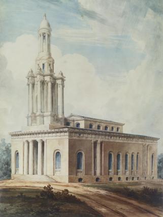 Marylebone Church, by Joseph Michael Gandy