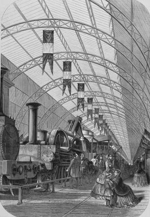 Vue intérieure de la galerie-annexe de l'Exposition de l'Industrie Universelle