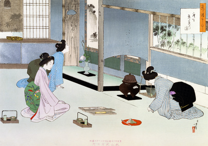 Tea Ceremony, by Mizuno Toshikata