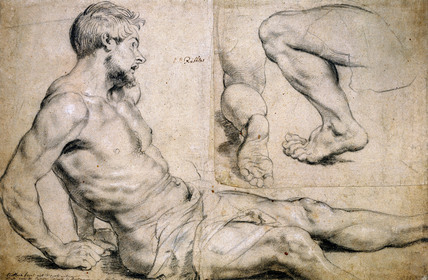 Studies for Figures for The Miracles of St.Francis Xavier, by Peter Paul Rubens
