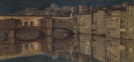 Ponte Vecchio, Florence, by William Holman Hunt