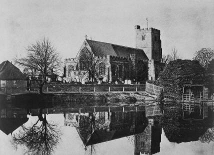 Hawkhurst church in Kent, by Benjamin Brecknell Turner