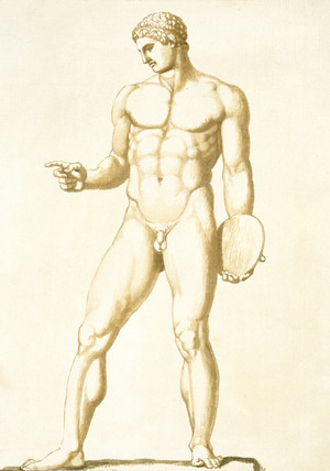 Naked Man with Discus, by John Deare