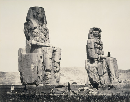The Statues of the Plain, Thebes, photo Francis Frith
