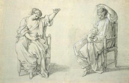 Studies of a Draped Figure, by Angelica Kaufmann