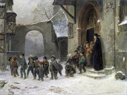 Children Leaving School, by Marc Louis Benjamin Vautier