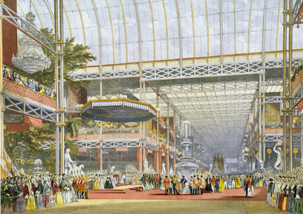 Colour Lithograph of the Opening of the Great Exhibition