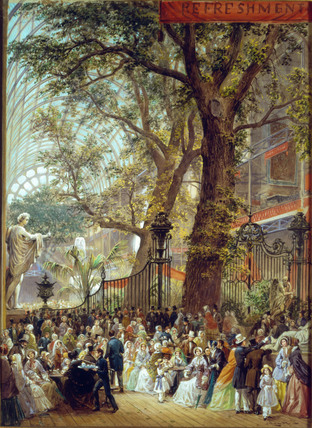 The Refreshment area of the Great Exhibition, by Louis Haghe