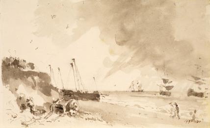 A Coastal Scene of Brighton, by John Constable