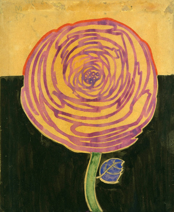 Stylised Rose, by Charles Rennie Mackintosh