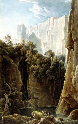 The Falls of the Ruecca Near Trieste, by Louis Franþois Cassas