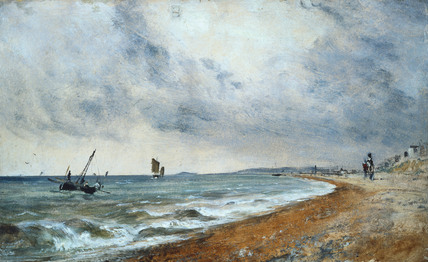 Hove Beach with Fishing Boats, by John Constable