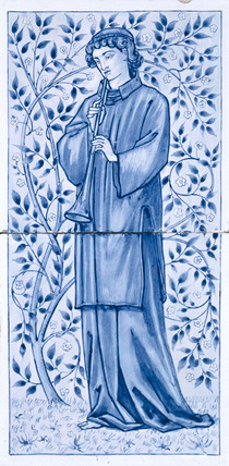 Young Man with Trumpet, by Edward Burne-Jones