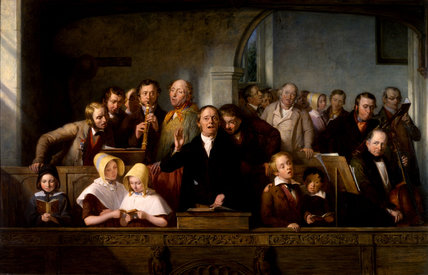 A Village Choir, by Thomas Webster