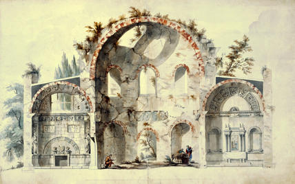Design for a Roman Ruin, by John Adam