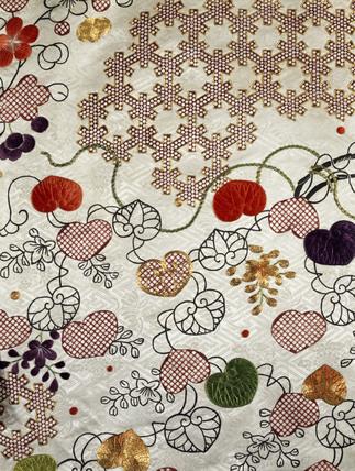 Kimono, detail. Japan, 18th century