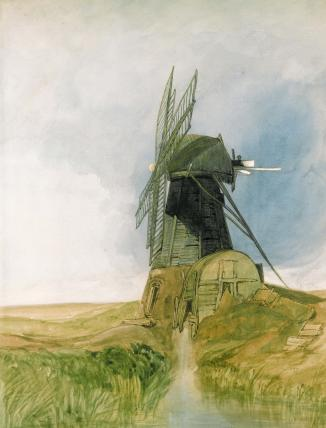 The Draining Mill, by John Sell Cotman
