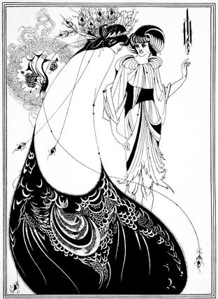 The Peacock Skirt, by Aubrey Beardsley