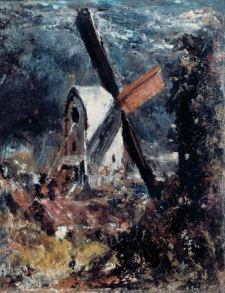 A Windmill Near Brighton, by John Constable