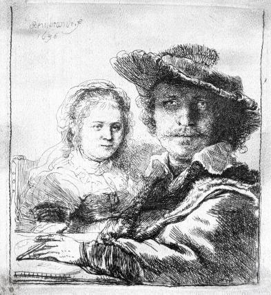 Self Portrait with Saskia, by Rembrandt