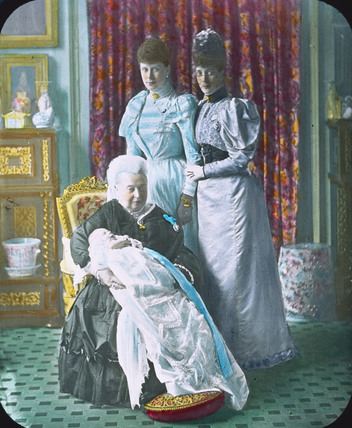 Queen Victoria holding Prince Edward of York