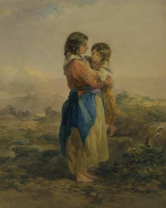 Galway Peasants, by Francis Topham