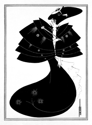 The Black Cape, by Aubrey Beardsley