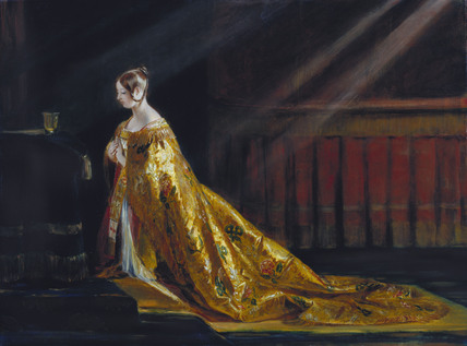 Queen Victoria in coronation robes, by Charles Robert Leslie