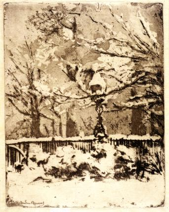 The Snow, My Front Garden, by Theodore Casimir Roussel