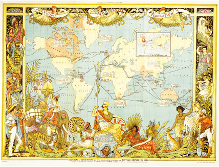 Imperial federation map of the world, by Walter Crane